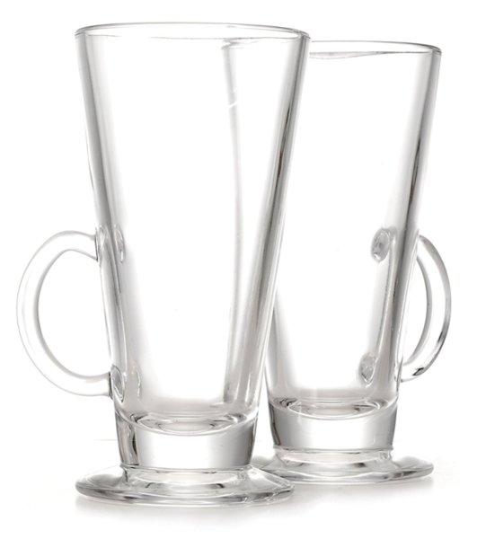 Стъклена чаша за лате и горещ шоколад 2бр.